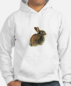 Baby Rabbit Portrait in Pastels Jumper Hoody