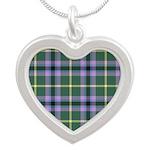 Tartan - Gala Water dist. Silver Heart Necklace