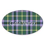 Tartan - Gala Water dist. Sticker (Oval)