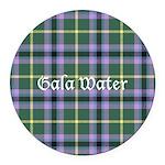 Tartan - Gala Water dist. Round Car Magnet