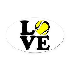 Love Tennis Oval Car Magnet