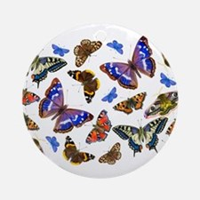 Butterflies and Moths Watercolours Ornament (Round