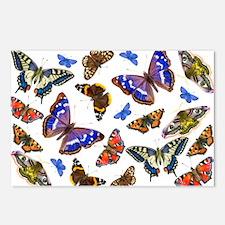 Butterflies and Moths Watercolours Postcards (Pack