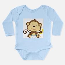 Little Boy Monkey with banana Body Suit