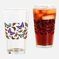 Butterflies and Moths Watercolours Drinking Glass