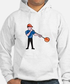 Glassblower Glassblowing Isolated Cartoon Hoodie