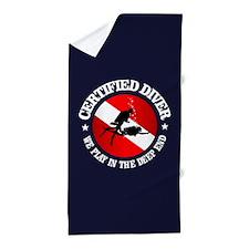 Certified Diver (Deep End) Beach Towel