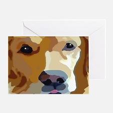 Cute Golden retriever mom Greeting Card