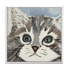 Ray the Cat Tile Coaster