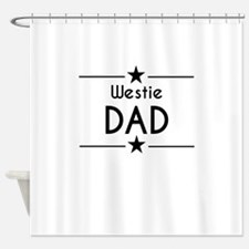 Westie Dad Shower Curtain