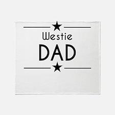 Westie Dad Throw Blanket