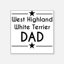 West Highland White Terrier Dad Sticker