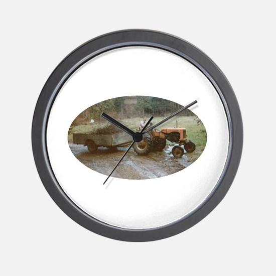 Riding a Tractor Wall Clock