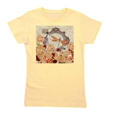 Soft orange floral Girl's Tee