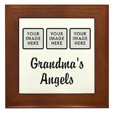 CUSTOM Grandmas Angels - 3 Grandkids Framed Tile