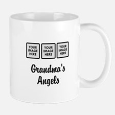 CUSTOM Grandmas Angels - 3 Grandkids Mugs