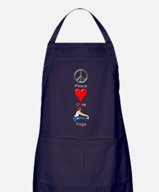 Peace Love Yoga Apron (dark)