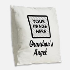 CUSTOM Grandmas Angels - One Grandkids Burlap Thro