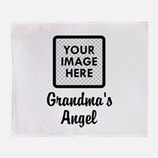 CUSTOM Grandmas Angels - One Grandkids Throw Blank