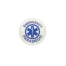 Emergency Paramedic Blue Symbol Mini Button