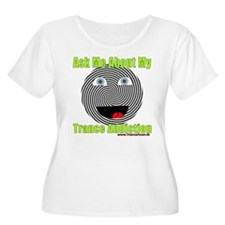 Trance Addiction Smiley Plus Size T-Shirt