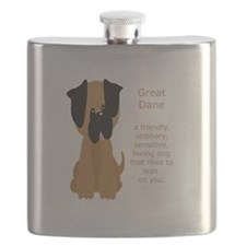 What is a Great Dane Funny Cartoon dog pet Flask