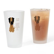 What is a Great Dane Funny Cartoon dog pet Drinkin