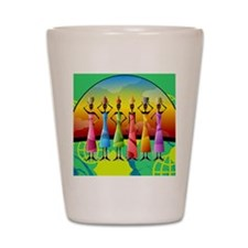 African American Women Shot Glass