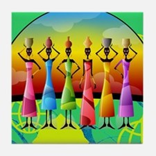 African American Women Tile Coaster