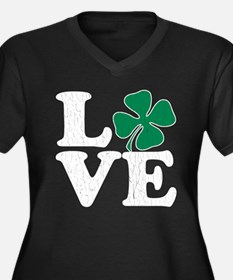 Love St Pattys (vintage distressed look) Plus Size