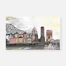 Louisville Skyline Rectangle Car Magnet