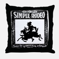 Hillbilly Vintage Goat Rodeo Throw Pillow