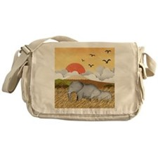 Paper Elephants Messenger Bag