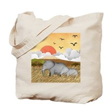 Paper Elephants Tote Bag