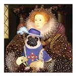 Queen-Sir Pug (17) Square Car Magnet 3