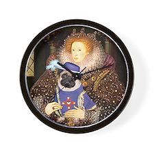 Queen-Sir Pug (17) Wall Clock
