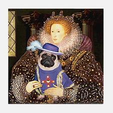 Queen-Sir Pug (17) Tile Coaster