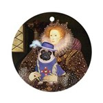 Queen-Sir Pug (17) Ornament (Round)