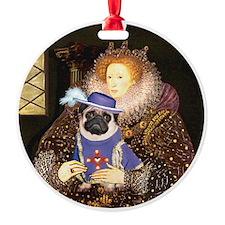 Queen-Sir Pug (17) Ornament