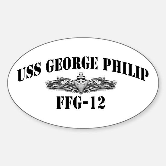 USS GEORGE PHILIP Sticker (Oval)