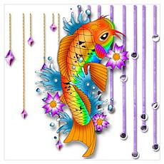 Pretty Koi Fish Poster