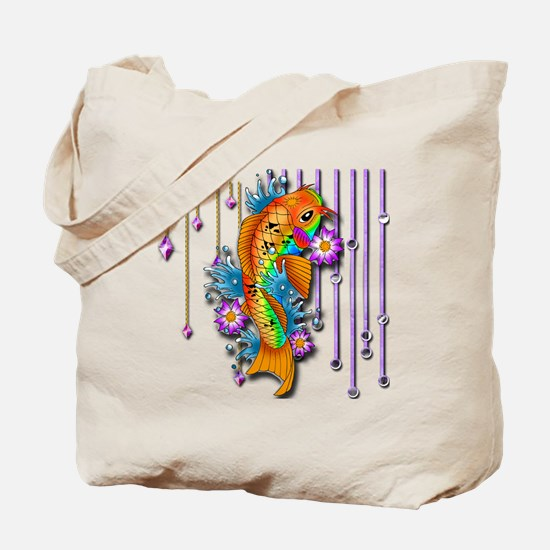 Pretty Koi Fish Tote Bag