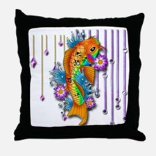 Pretty Koi Fish Throw Pillow