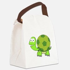 Soccer Turtle Canvas Lunch Bag