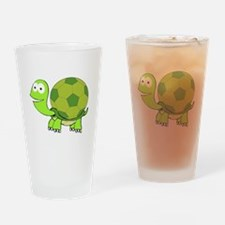 Soccer Turtle Drinking Glass