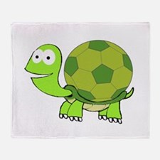 Soccer Turtle Throw Blanket