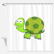 Soccer Turtle Shower Curtain