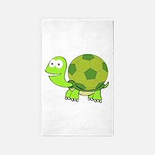 Soccer Turtle Area Rug