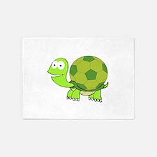 Soccer Turtle 5'x7'Area Rug