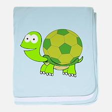 Soccer Turtle baby blanket